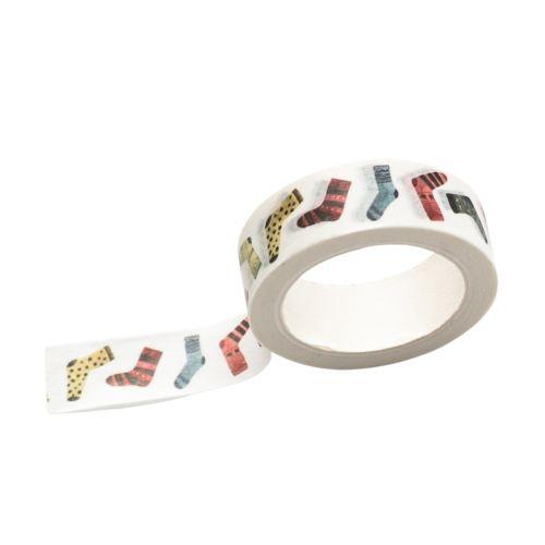 Bella Rose / Vianočná papierová lepiaca páska Fusky