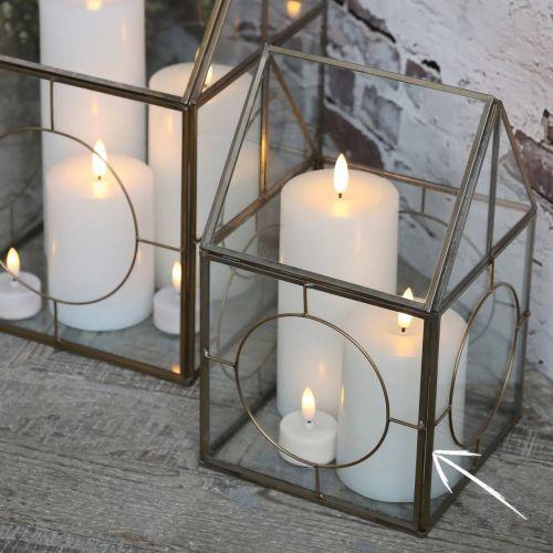 Chic Antique / LED vysoká sviečka s batério White