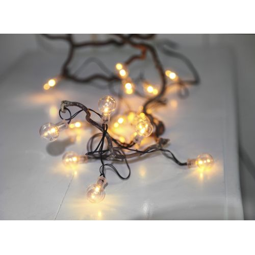 STAR TRADING / Svetelná LED reťaz Globe/black