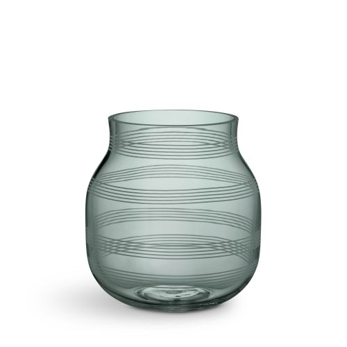 KÄHLER / Sklenená váza Omaggio Green 17 cm