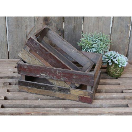 Chic Antique / Drevená debnička Old French Apple Box