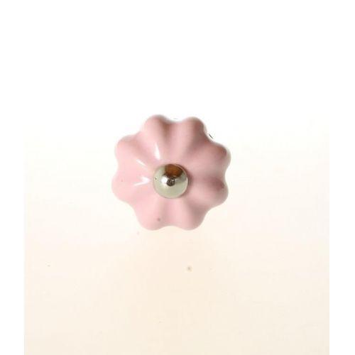 La finesse / Porcelánová úchytka Pink Bud