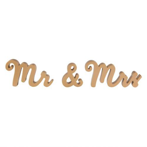 sass & belle / Dekoratívny zlatý nápis Mr & Mrs