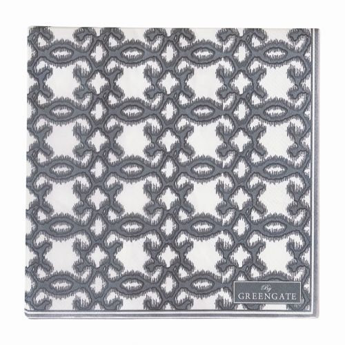 GREEN GATE / Papierové obrúsky Karma dark grey 20 ks