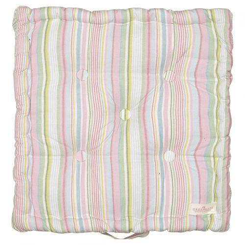 GREEN GATE / Bavlnený sedák Pipa Soft Stripe