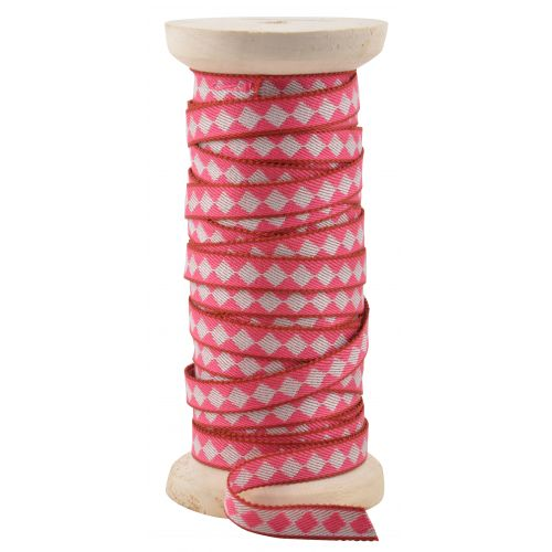 IB LAURSEN / Dekorativní stuha Harlequin pink