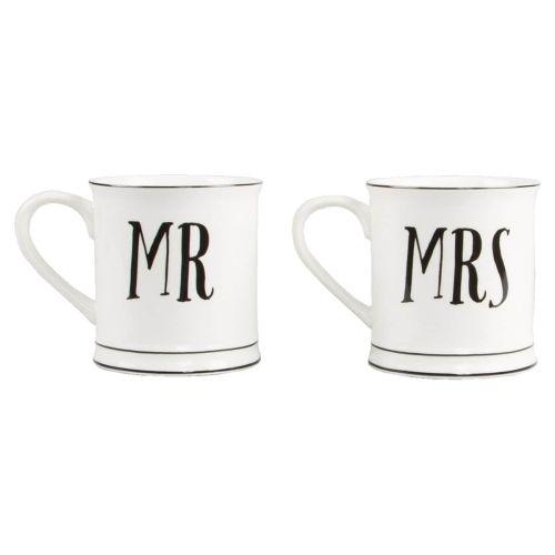 sass & belle / Porcelánový hrnček Mr & Mrs 350 ml