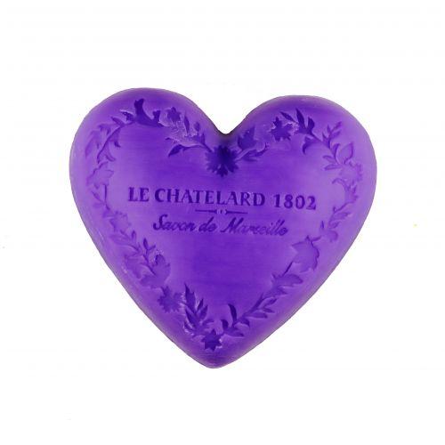 Le Chatelard / Mýdlo Heart - levandule 100gr