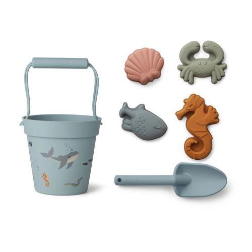 LIEWOOD / Hračky do piesku Sea Creature Mix