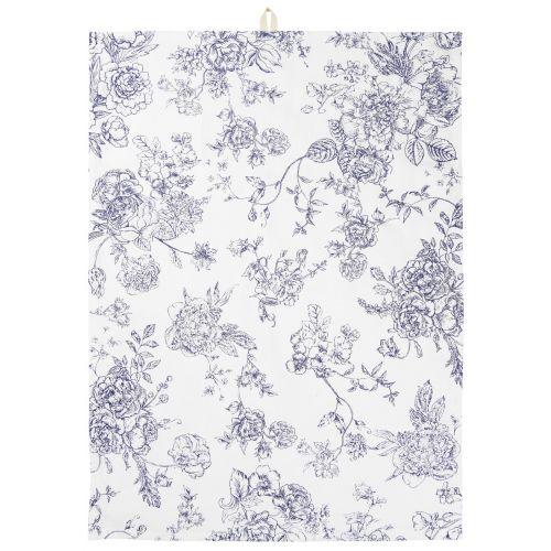IB LAURSEN / Bavlnená utierka Blue Flowers