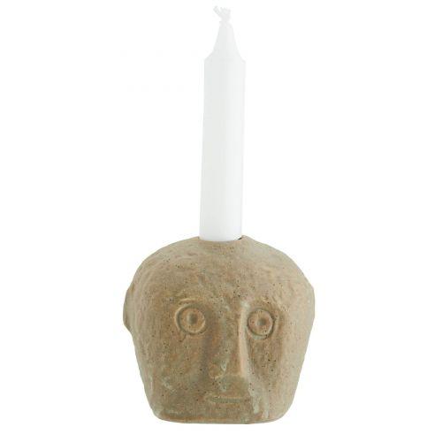 MADAM STOLTZ / Kameninový svietnik Face Sand