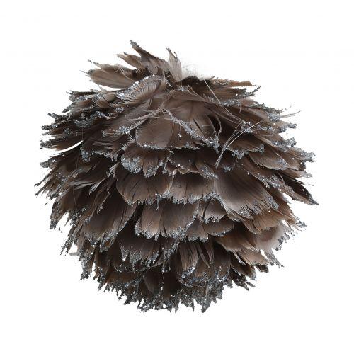 CÔTÉ TABLE / Závesná dekorácia Plume gris - väčšia