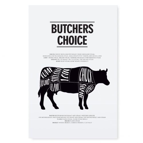 TAFELGUT / (Darček) Plagát Butchers choice 21x30 cm