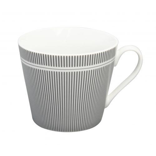 Krasilnikoff / Porcelánový hrnček Grey Stripes