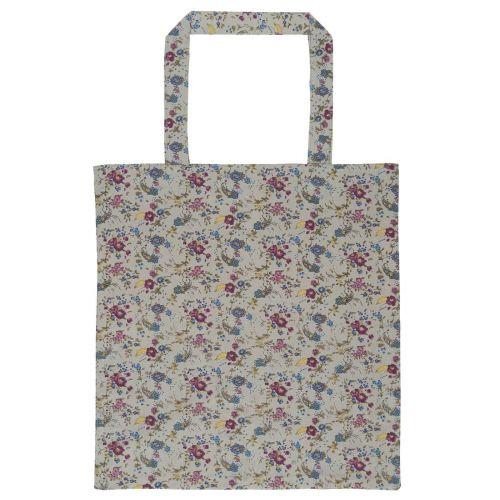 IB LAURSEN / Bavlnená taška Grey Flowers