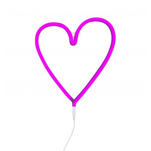 A Little Lovely Company / Neónové LED svetlo Heart Pink