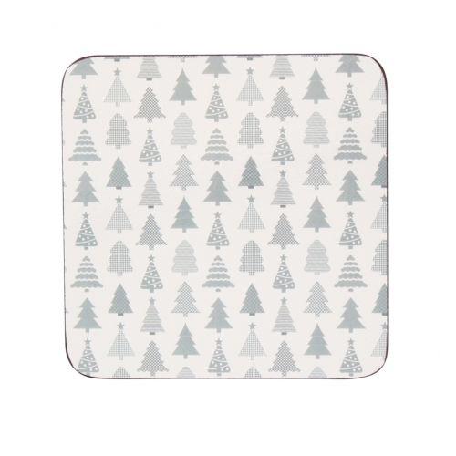 Krasilnikoff / Korková podložka pod hrnček Christmas Trees