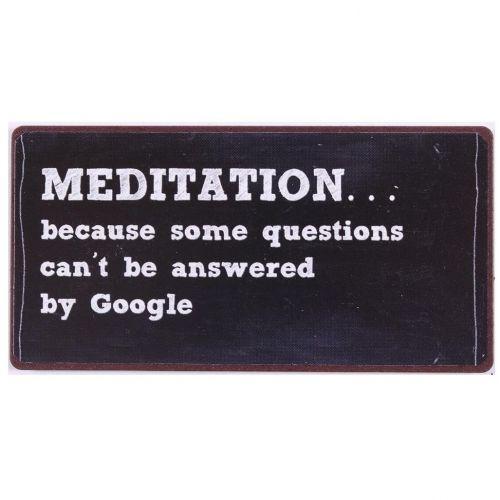 La finesse / Plechová magnetka Meditation