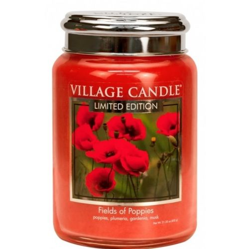 VILLAGE CANDLE / Sviečka Village Candle - Fields of Poppies 602g