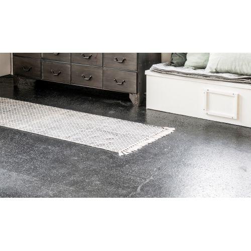 IB LAURSEN / Bavlnený koberec Black/white 60x180