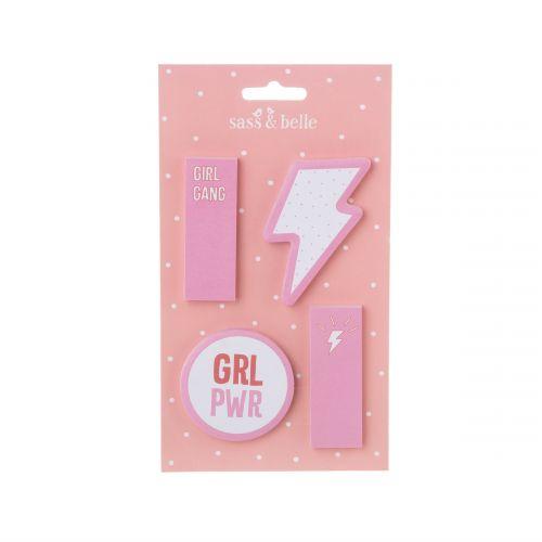 sass & belle / Lepiace papieriky na poznámky Girl Power