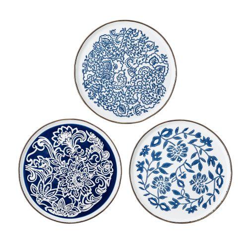 Bloomingville / Keramický obedový tanier Molly Blue Plate 24 cm