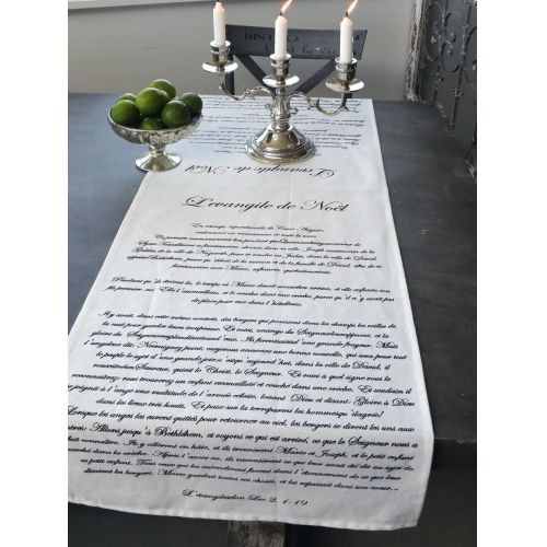 Chic Antique / Obrus L'evangile de Noël white