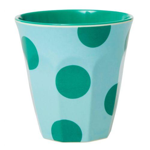 rice / Melamínová šálka Mint Green Dots 250 ml