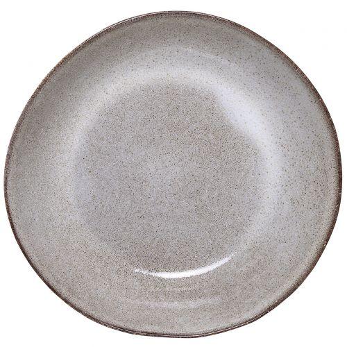 Bloomingville / Hlboký keramický tanier Sandrine Light Grey