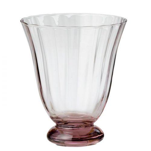 BUNGALOW / Pohár na vodu Trellis Blush 250 ml - Set 2 ks
