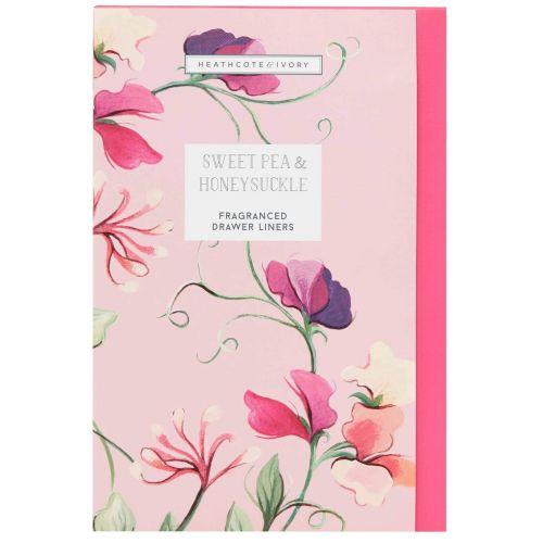 HEATHCOTE & IVORY / Vonné listy do skrine Sweet Pea & Honeysuckle - 5 archov