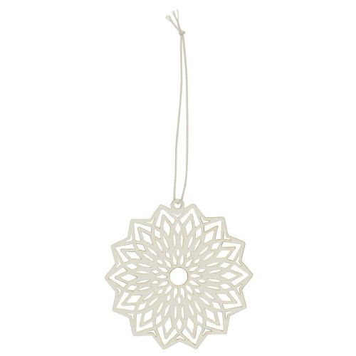 IB LAURSEN / Závesná papierová ozdoba Flower White 8 cm