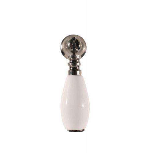 La finesse / Porcelánová úchytka - visiaca White/Silver