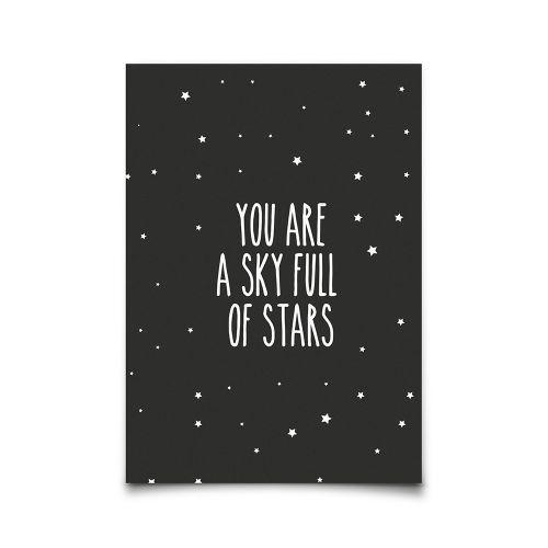 EEF lillemor / Pohľadnica Sky Full Of Stars A6