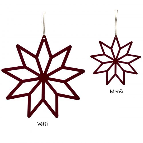 Hübsch / Závesná dekorácia Bordeaux Wood Star