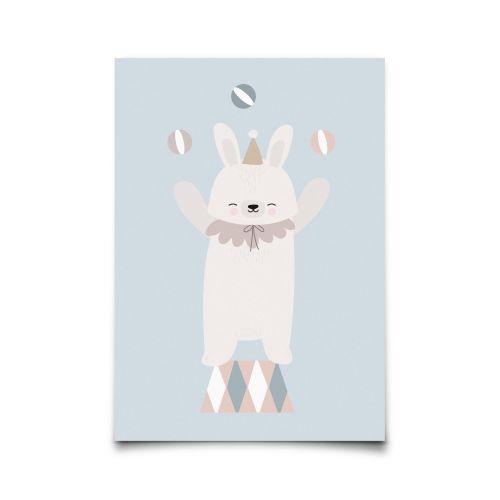 EEF lillemor / Pohľadnica Circus Bunny Juggler