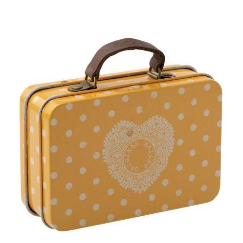 Maileg / Plechový kufříček Yellow Dot