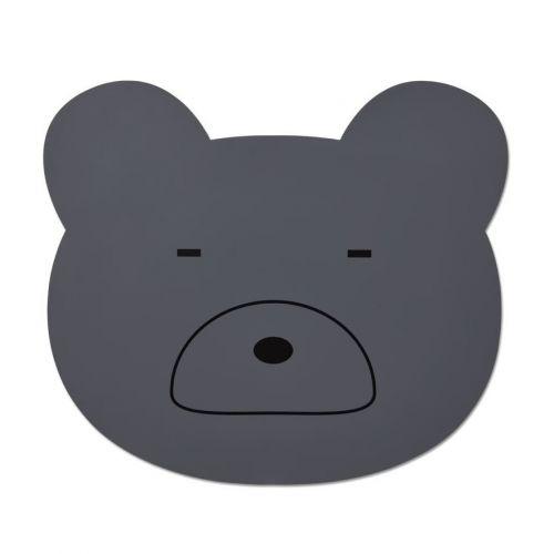 LIEWOOD / Detské prestieranie Aura Mr. Bear Stone Grey
