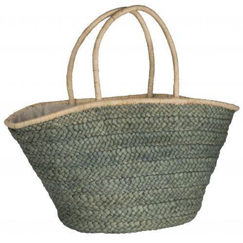 IB LAURSEN / Slaměná taška Olive Green