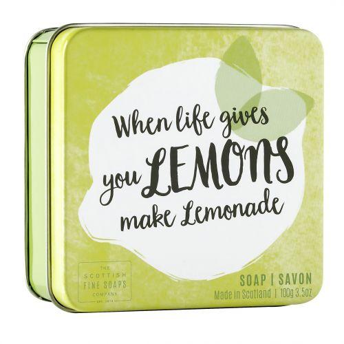 SCOTTISH FINE SOAPS / Mydlo v plechovej krabičke Lemons