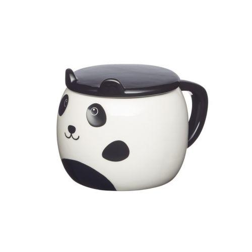Kitchen Craft / Keramický hrnček s viečkom Panda 550 ml