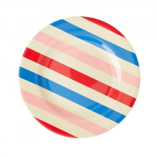 rice / Melamínový tanier Candy Stripes