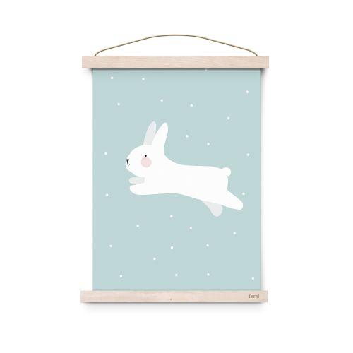 EEF lillemor / Plagát do detskej izby White Rabbit A3