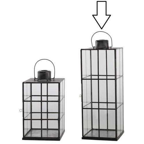 Chic Antique / Veľký lampáš Stylish Lattice Glass 57 cm
