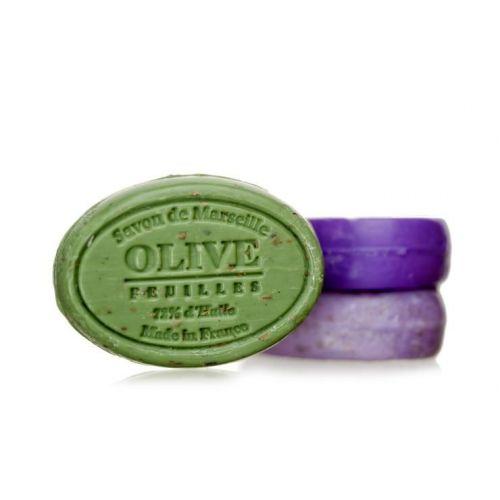 LE CHATELARD / Marseillské mydlo s peelingom 100 g ovál - oliva kvet