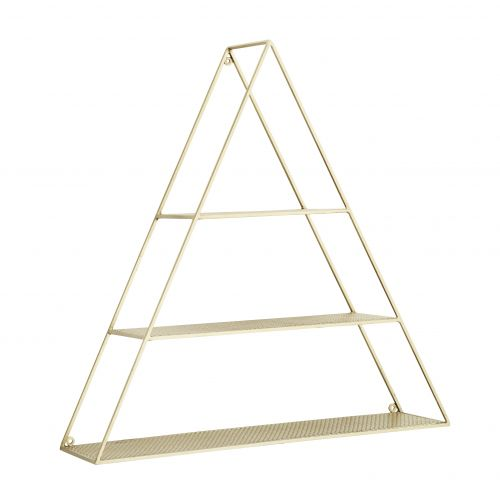MADAM STOLTZ / Nástenná polica Triangular Gold