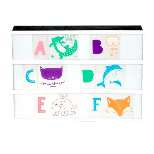 A Little Lovely Company / Set obrázkov a písmenok pre Lightbox ABC Pastel