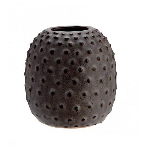 MADAM STOLTZ / Keramická váza Grey Plastic Dots