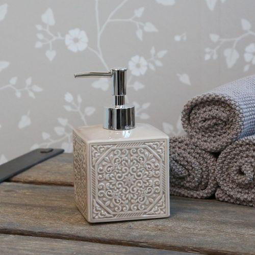 Chic Antique / Porcelánový zásobník na mydlo Ornament Latte