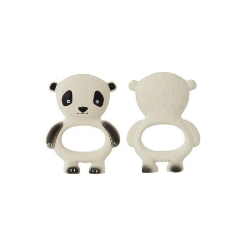 OYOY / Gumové hryzátko pre bábätká Panda Off White